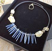 Украшения handmade. Livemaster - original item Necklace with kyanite and lemon quartz. Handmade.