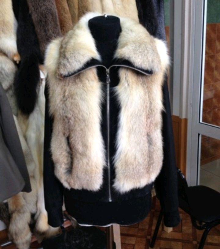 Верхняя одежда ручной работы. Ярмарка Мастеров - ручная работа. Купить Куртка из меха степных лис с натуральной замшей. Handmade.