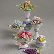 Куклы и игрушки ручной работы. Ярмарка Мастеров - ручная работа Микро вазочки для кукольного дома. Handmade.
