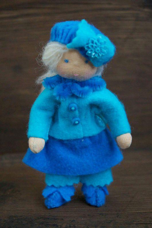 Вальдорфская игрушка ручной работы. Ярмарка Мастеров - ручная работа. Купить Голубая Ляля. Handmade. Вальдорфская кукла, интерьерная кукла