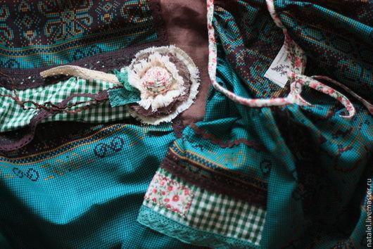 """Одежда ручной работы. Ярмарка Мастеров - ручная работа. Купить Костюм юбка длинная бохо стиль """"Изумрудная"""" и блузка. Handmade."""
