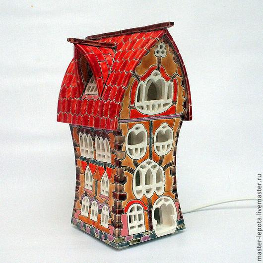 """Освещение ручной работы. Ярмарка Мастеров - ручная работа. Купить Керамический домик-ночник """"Джованни"""". Handmade. Керамика, красочный, освещение"""