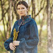 """Одежда ручной работы. Ярмарка Мастеров - ручная работа Жакет из войлока """"Горечавка"""". Handmade."""