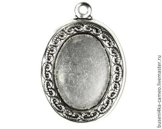 Для украшений ручной работы. Ярмарка Мастеров - ручная работа. Купить Оправа Орнамент 13х18мм, античное серебро (1шт). Handmade.