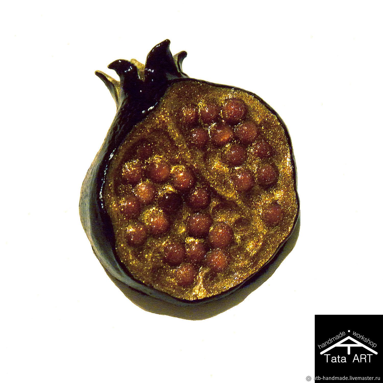 """Brooch """"Black garnet / pomegranate"""", Brooches, Ulyanovsk,  Фото №1"""