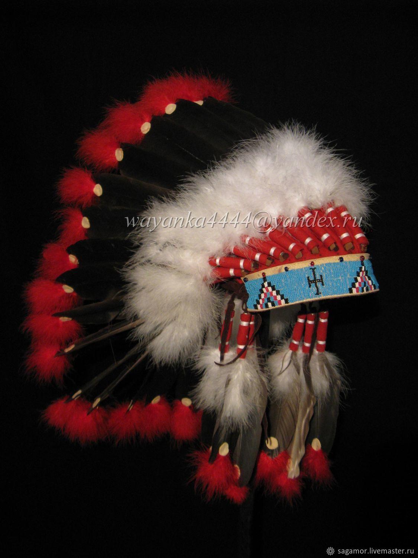 Головной убор индейцев – купить на Ярмарке Мастеров – EWY6LRU | Костюмы для кослпея, Москва
