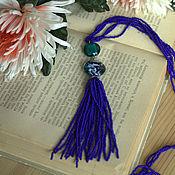 Украшения ручной работы. Ярмарка Мастеров - ручная работа Сотуар из бисера синий. Handmade.