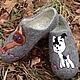 Обувь ручной работы. домашние валяные тапочки из натуральной шерсти Гав и Шарик. Кэт & Ко (6116466). Ярмарка Мастеров.