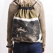 Сумки и аксессуары ручной работы. Ярмарка Мастеров - ручная работа рюкзак в стиле вещмешок с авторской фотограммой. Handmade.