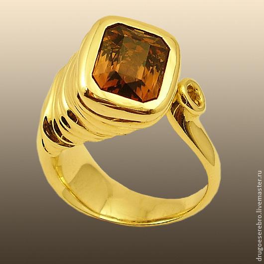 Кольца ручной работы. Ярмарка Мастеров - ручная работа. Купить Золотое кольцо с турмалином Думающий слон. Handmade. единственный экземпляр