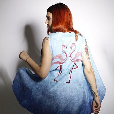 Clothing handmade. Livemaster - original item vests: Author`s Flamingo vest. Handmade.