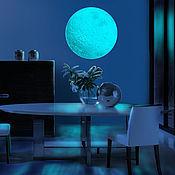Для дома и интерьера handmade. Livemaster - original item Glowing sticker - Moon. For walls and ceilings. Handmade.