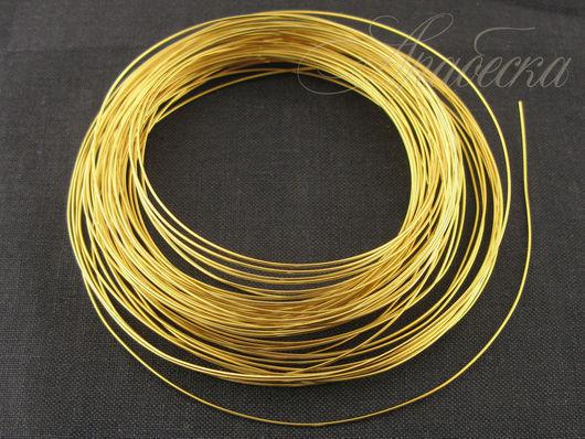 Проволока медная золотого цвета 0.6мм  Rayher (Германия) 10м/упак