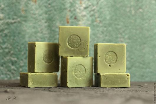 Мыло ручной работы. Ярмарка Мастеров - ручная работа. Купить Алеппское мыло. Handmade. Мятный, алеппское мыло, органическое мыло