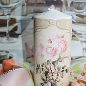 Candles handmade. Livemaster - original item English rose Interior candles in the style of Shabby chic. Handmade.