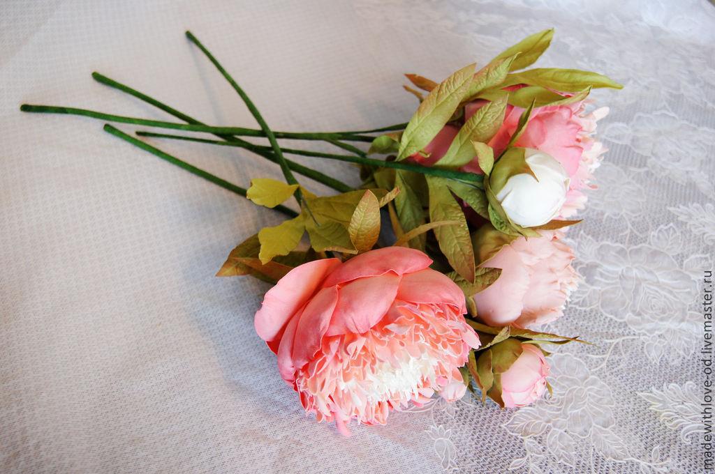 Цветы пиона из фоамирана