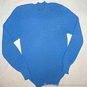 Одежда handmade. Livemaster - original item Women`s cardigan in cornflower blue.. Handmade.