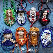Украшения handmade. Livemaster - original item PENDANTS: Vampire, Witch, Elf, Spaniard, Snow Maiden, Winter, Maya, Autumn. Handmade.