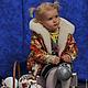 Одежда для девочек, ручной работы. Ярмарка Мастеров - ручная работа. Купить Куртка из платка (детская). Handmade. Куртка, куртка из меха