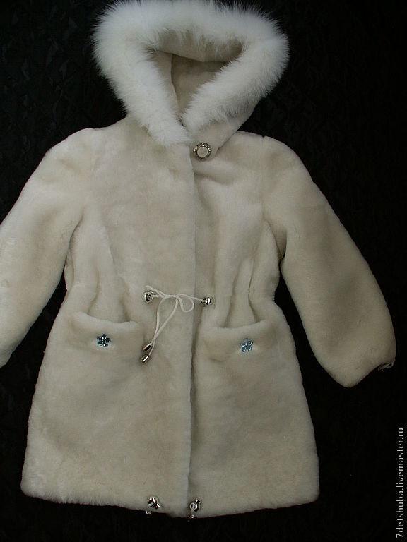 Верхняя одежда ручной работы. Ярмарка Мастеров - ручная работа. Купить детская мутоновая шуба. Handmade. Белый, овчина, мутон