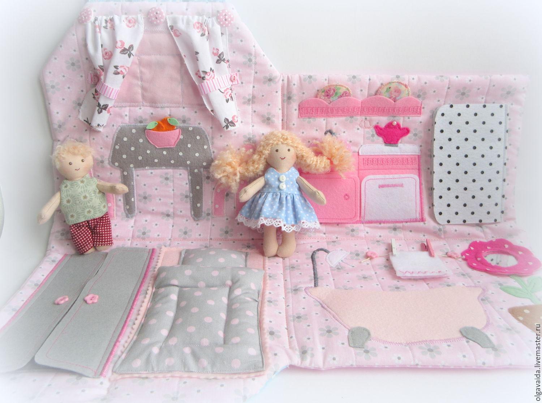 Выкройки дома для кукол