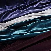 Материалы для творчества ручной работы. Ярмарка Мастеров - ручная работа Бархат. Коллекция ткани из Италии. Итальянский бархат фиолетовый. Handmade.