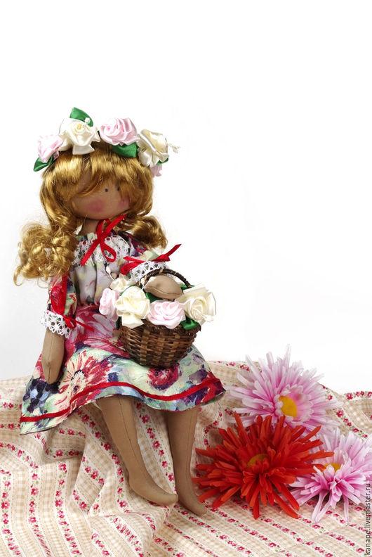 Коллекционные куклы ручной работы. Ярмарка Мастеров - ручная работа. Купить Цветочница Анюта. Handmade. Кукла ручной работы, кружево