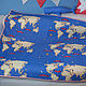 На обратную сторону одеяла использована ткань с рисунком в виде карты мира, смотрится шикарно и делает одеяло двусторонним!