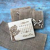 handmade. Livemaster - original item Wooden invitation. Calendar. Handmade.