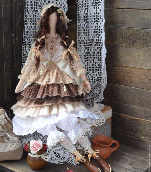 Куклы Тильды ручной работы. Ярмарка Мастеров - ручная работа. Купить Оливия. Handmade. Бежевый, кукла интерьерная, хлопок 100%