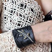 Украшения handmade. Livemaster - original item 3D Bracelet made of genuine leather