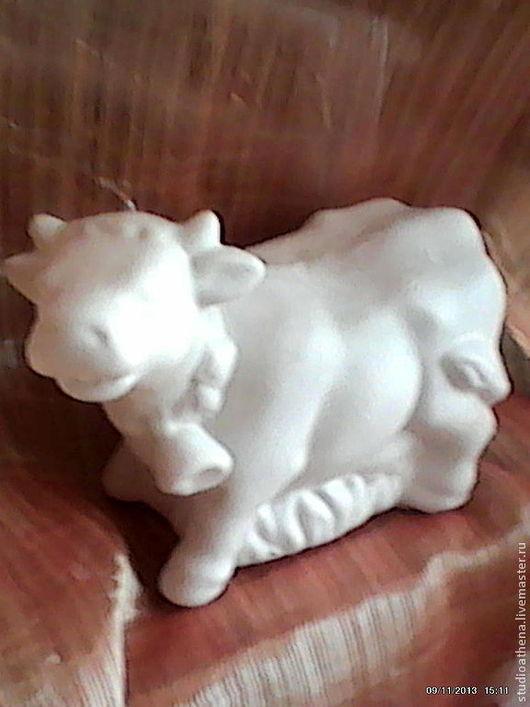 Миниатюрные модели ручной работы. Ярмарка Мастеров - ручная работа. Купить Коровка 5. Handmade. Белый, коровы, развивающие игрушки