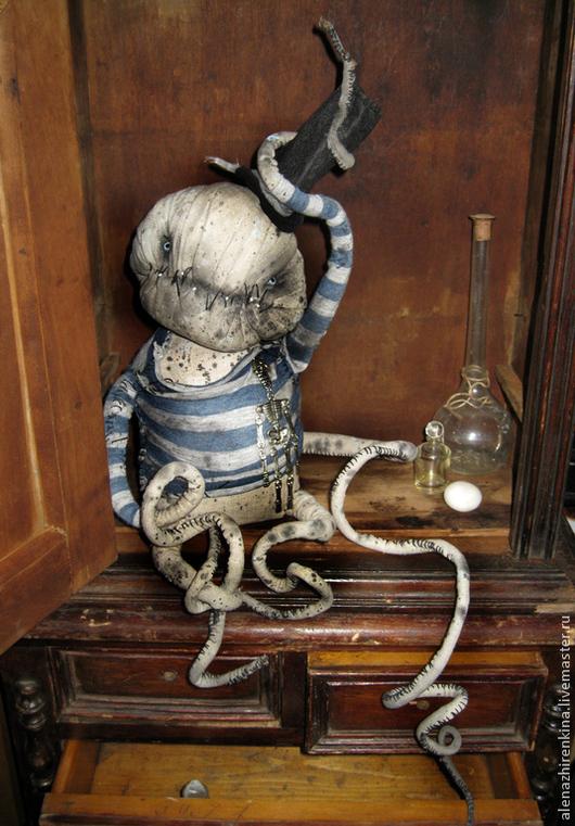Мишки Тедди ручной работы. Ярмарка Мастеров - ручная работа. Купить ОСИП осьминог. Handmade. Синий, игрушка