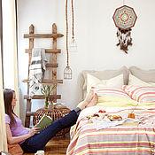Для дома и интерьера handmade. Livemaster - original item Wall clock in the style of boho mandala