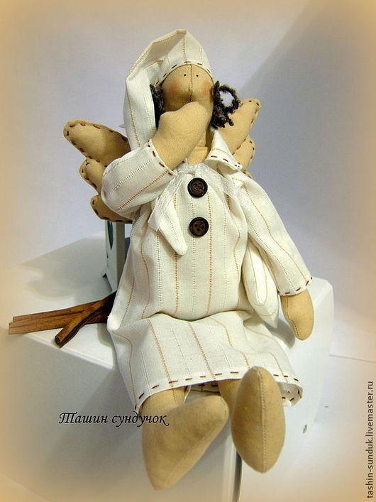 Куклы Тильды ручной работы. Ярмарка Мастеров - ручная работа. Купить Сонный ангел Тильда.. Handmade. Белый, сонный ангел