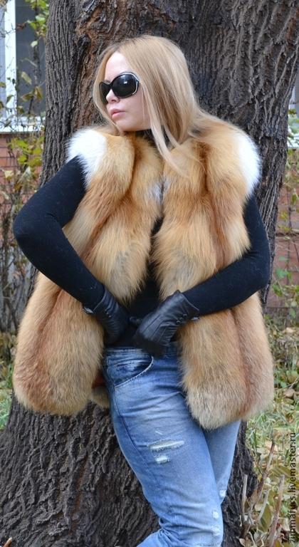 Vest of red Fox Siberian. Solid, Vests, Omsk,  Фото №1