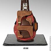 """Рюкзаки ручной работы. Ярмарка Мастеров - ручная работа Рюкзак №7 бордо """"Виноградник в Арлье"""". Handmade."""