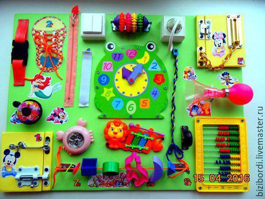 Развивающие игрушки ручной работы. Ярмарка Мастеров - ручная работа. Купить Бизиборд - лягушонок. Handmade. Салатовый, бизиборд, подарок