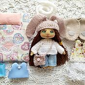 Куклы и игрушки handmade. Livemaster - original item Play doll, doll with clothes, textile doll with a set of clothes.. Handmade.