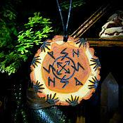 """Фен-шуй и эзотерика handmade. Livemaster - original item Амулет рунический """"Сжигание прошлого"""", амулет из дерева, с корой. Handmade."""