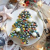Подарки ручной работы. Ярмарка Мастеров - ручная работа Торт ёлочка. Медовик с ягодами. Handmade.