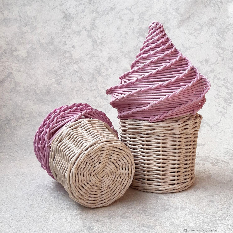Плетеная шкатулка для детской Мороженое, Шкатулки, Томск,  Фото №1