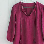 Одежда handmade. Livemaster - original item Linen tunic blouse in boho style. Handmade.