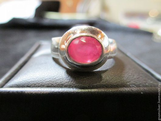 Кольца ручной работы. Ярмарка Мастеров - ручная работа. Купить Роскошное кольцо с турмалином с о. Цейлон. Handmade. Коралловый, рубеллит