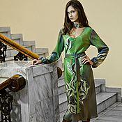 Одежда ручной работы. Ярмарка Мастеров - ручная работа Платье шёлковое батик Ноктюрн. Handmade.