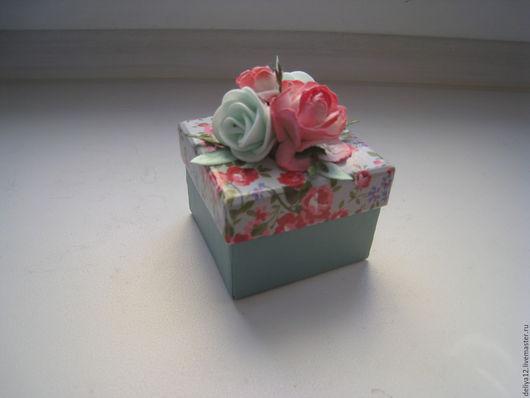 Подарочная упаковка ручной работы. Ярмарка Мастеров - ручная работа. Купить Подарочная коробочка для украшения. Handmade. Мятный, подарок к празднику