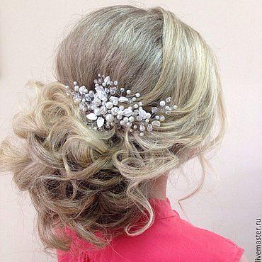 Свадебный салон ручной работы. Ярмарка Мастеров - ручная работа Свадебное украшение для волос/Свадебные украшения, Для прически. Handmade.