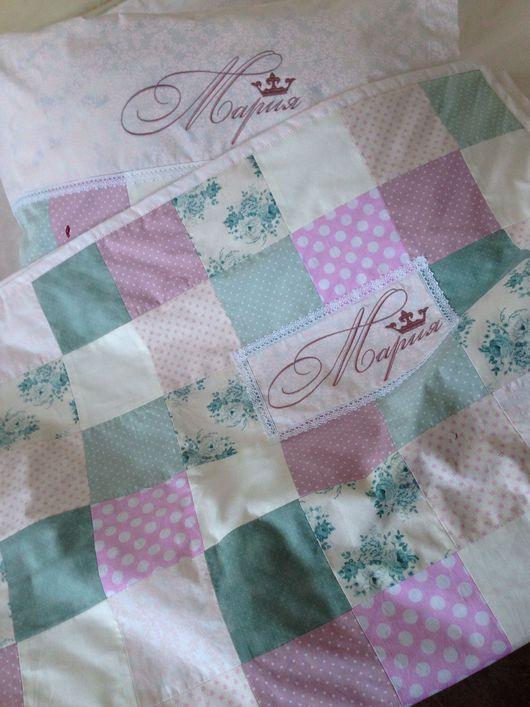 Текстиль, ковры ручной работы. Ярмарка Мастеров - ручная работа. Купить Лоскутный комплект постельного белья. Handmade. Плед