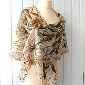 Шали ручной работы. Ярмарка Мастеров - ручная работа Песчаный берег- -   Ажурная шаль. Handmade.