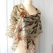 Аксессуары handmade. Livemaster - original item Sandy beach - is an Openwork shawl. Handmade.